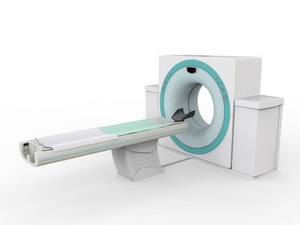 CT Scanner Tomography Isolated on White Background